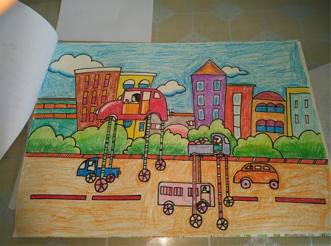 儿童科学幻想画,敬请指点