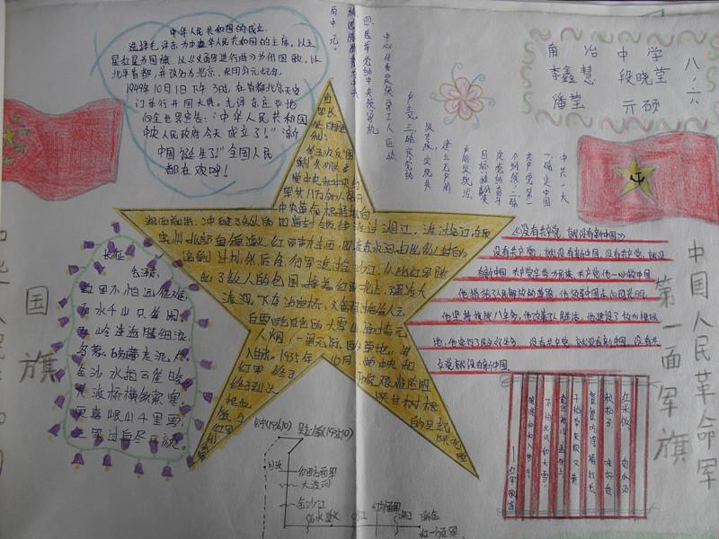写手抄报颂扬祖国高清图片
